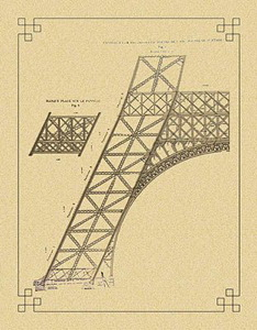 Detail of the Eiffel tower multi-scale design